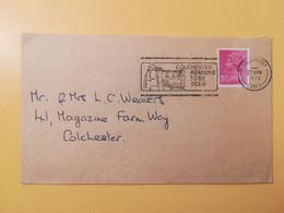 1973 BUSTA GRAN BRETAGNA GREAT BRITAIN BOLLO REGINA ELISABETTA QUEEN ELIZABETH OBLITERE' COLCHESTER ETICHETTA - Covers & Documents