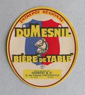 Rare Ancienne Étiquette Bière, Brasserie DUMESNIL  Bieretiketten Beer Label - Sotto-boccale
