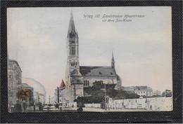 AK 0674  Wien - Landstrasse-Hauptstrasse Mit Herz Jesu-Kirche Ca. Um 1910 - Iglesias
