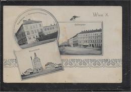 AK 0674  Wien - Eugengasse-Staatsgewerbeschule , Gellertplatz & Wasserturm Um 1923 - Vienna Center
