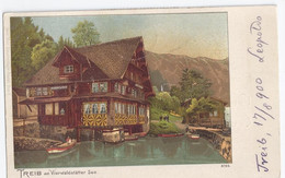 SUISSE : 1900 Treib Am VIERWALDSTATTER SEE - TREIB Bel Francobollo 5 CENT 1900 JUBILE UNION POSTALE - LU Lucerne