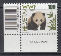 2011 Switzerland WWF Panda Bear  Complete Set Of 1 MNH @ BELOW FACE VALUE - Ungebraucht