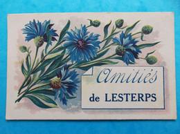 16 : LESTERPS : AMITIES De........... , CPA , Carte En Bon état - Otros Municipios