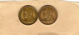 Lot De 2 Monnaies De L'Ile De La Réunion, 10 Francs 1962 - 10 Francs 1964 En TTB, Aluminum-Bronze - Reunion