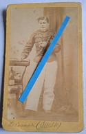 1850 1870 Harderwijk Belgique Officier De Cavalerie Lancier Chasseur Photo Cdv Blankenburg - Oorlog, Militair