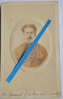1850 1870 Nykerk Belgique Officier Espagnol Photo Cdv Blankenburg - Oorlog, Militair
