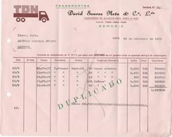 PORTUGAL - COMMERCIAL DOCUMENT - INVOICE . TRANSPORTATION - TRANSPORT - TDN - ESMORIZ - Portugal