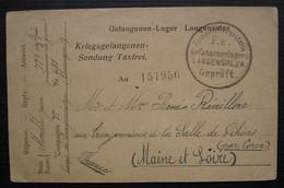 Langensalza Camp De Prisonnier 1917 Carte Jean Morille 77eme Inf Pour Les Tronjonnières De La Salle De Vihiers Par Coron - Guerra Del 1914-18