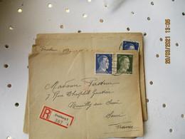 Lot De 4 Lettre Recommande Guerre 39.45  Duisbourg Pour Neuilly Sur Seine - 2. Weltkrieg 1939-1945