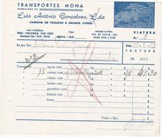 PORTUGAL - COMMERCIAL DOCUMENT - INVOICE . TRANSPORTATION - TRANSPORT - MONA  - VALENÇA - Portugal