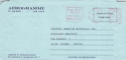 AUSTRALIA - AEROGRAMME 1976 COLLAROY BEACH > MILANO/IT -METER- /QD 146 - Aerogramas