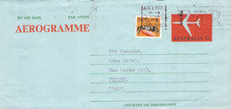 AUSTRALIA - AEROGRAMME 1974 ADELAIDE > VENICE/IT /QD 147 - Aerogramas