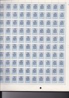 1446 - XX - CHIFFRE SUR LION HERALDIQUE 15c S/ 50c- LES  4 PANNEAUX 400 Timbres -et + De 20 Var/cur Dont Cobv1 - Hojas Completas