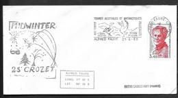 Pli De Crozet MIDWINTER Du 21-06-1988 - Covers & Documents