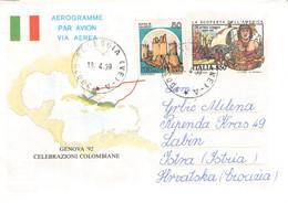 ITALIA - AEROGRAMME 850L 1999 POSEGGIA > ISTRA/CROATIA /QD 152 - Correo Aéreo