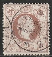 Autriche N° 38A, Impression Fine, Oblitération LINZ 1875 - Gebruikt