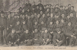CPA-13-AIX EN PROVENCE-Arts Et Métiers-Les Conscrits Promo 1905-1908-Gros Plan - Aix En Provence