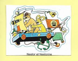 AUTOCOLLANT STICKER - MAGAZINE FRIPOUNET - FLEURUS PRESSE - JOURNAL - NESTOR ET NESTORINE - Stickers