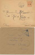 DX-817: FRANCE: Lot  FM 3 Enveloppes + N° 1 Obl De Nelle Calédonie - Franchise Militaire (timbres)