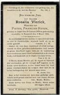 ASPER / NAZARETH - Rosalia VLERICK - Wwe P. HEYZE - °1829  En +1901 - Devotieprenten