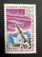 TAAF Yvert N° 23 ** ; Premier Tir De Fusée Sonde ; Neuf Sans Charnière, Magnifique - Unused Stamps