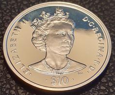 """British Virgin Islands 10 Dollars 2006 (PROOF) """"Queen Elizabeth II""""  Silver - British Virgin Islands"""