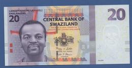 SWAZILAND - P.37 – 20 Emalangeni 2010 - UNC Prefix AA - Swaziland