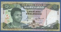 SWAZILAND - P.23 – 5 Emalangeni ND (1995) - UNC Prefix AE - Swaziland