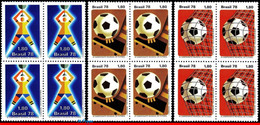 Ref. BR-1550-52Q BRAZIL 1978 FOOTBALL SOCCER, WORLD CUP CHAMPIONSHIP,, SPORT, MI# 1643-45, BLOCK MNH 12V Sc# 1550-1552 - 1978 – Argentina