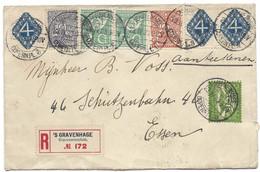 COPERNICUS PLEIN (Place Copernic, Kopernikus Platz, Copernicus Square) 1923 'S GRAVENHAGE Lettre Recommandée Pays-Bas - Cartas