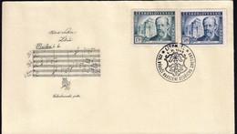 Czechoslovakia Litomysl 1949 / 125th Anniversary Of The Birth Of Bedrich Smetana (1824-1884), Composer, Music / FDC - FDC