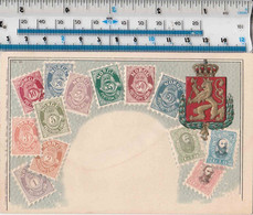 NORWAY - STAMP AND CREST EMBOSSED POSTCARD - Timbres (représentations)