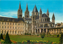 14 - Caen - L'Abbaye Aux Hommes - Abside De L'Eglise Saint Etienne Et Jardins De La Mairie - CPM - Voir Scans Recto-Vers - Caen