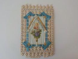 Ancien  Grand Canivet Image Pieuse Relief Découpis Sur Pied Pia Immagine 29 X 18 Cm Petit Jésus - Andere