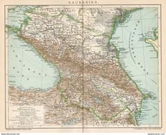 B6333 Caucasus - Caucaso - Carta Geografica Antica Del 1903 - Old Map - Carte Geographique