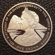 """Gibraltar 1 Crown 1980 (PROOF) """"80th Birthday Of Queen Mother""""  Silver - Gibraltar"""