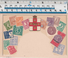 NEW SOUTH WALES (AUSTRALIA) - STAMPS / MAP POSTCARD - Timbres (représentations)