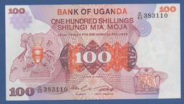 UGANDA - P.19b – 100 SHILLINGS Nd (1982) - UNC Prefix D/80 - Uganda