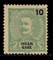 ! ! Inhambane - 1903 King Carlos 10 R - Af. 17 - No Gum - Inhambane