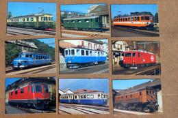 138 CPM Sur Les Trains Suisses - - 100 - 499 Postcards