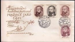 Czechoslovakia 1951 / Prague Musical Festival, Music, Composers, Smetana, Dvorak / FDC - FDC