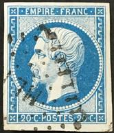 YT 14A Ambulants Losange ML1 Marseille Lyon (°) Obl 1853-60 Napoléon III Type I 20c Bleu France – Ciel - 1853-1860 Napoléon III