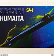 PB 130 Brazil Personalized Stamp Submarine Humaita Military Ship 2019 - Personnalisés