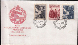 Czechoslovakia Prague 1951 / Czechoslovak-Soviet Friendship, Gottwald, Stalin / FDC - FDC