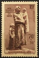 YT 447 (**) MNH 1939, Aux Marins Perdus En Mer, Boulogne-sur-Mer 70c+30c (35 Euros) France – 0 Lot - Unused Stamps