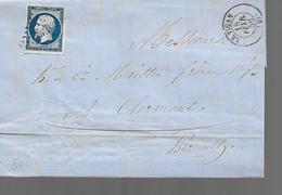 LETTRE CLASSIQUE  AFFRANCHIE AVEC BLEU     SCANS RECTO ET VERSO - 1849-1876: Classic Period