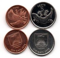 Kiribati - Set 2 Coins 1 + 5 Сents 1979 - 1992 UNC Lemberg-Zp - Kiribati