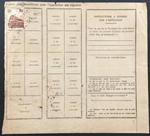 Roddier-Gauthier Thiers Coutellerie (Puy-de-Dôme) à Bordeaux France YT 187 1f Brun, Novembre 1943 – 374 - Covers & Documents