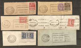 France 1931 -  Petit Lot De 6 Flammes/cachets Exposition Coloniale Internationale De Paris - Maschinenstempel (Werbestempel)