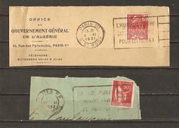 France 1931/2  -  Petit Lot De 2 Flammes - SPA - L'animal Souffre - La Loi Punit La Cruauté Envers Les Animaux - Maschinenstempel (Werbestempel)